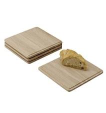 Plank Bricka Ek 16x16x1 cm