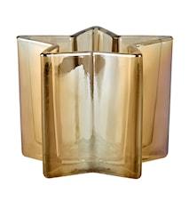 Värmeljushållare Glas Amber 10x13x13 cm