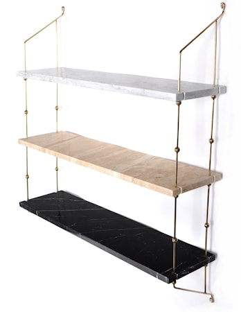 Morse shelve hylla - Carrara/Sand/Black/Brass