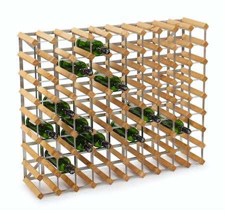 Traditional Wine Racks 90 pullon Koottava viiniteline, vaalea tammi