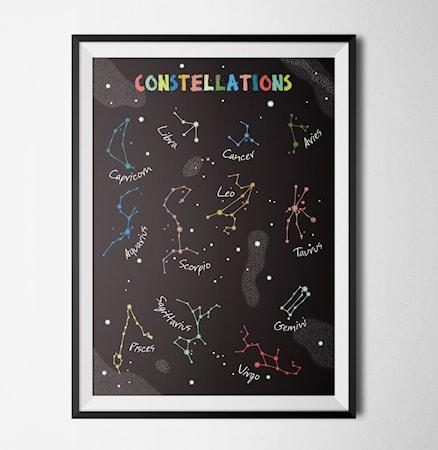 Bild av Konstgaraget Constellations black poster