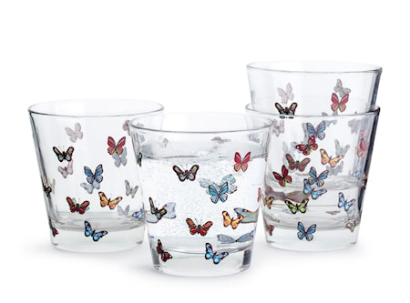 Butterfly glas 4-pack
