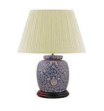 Lampfot, 22,5 cm, arabesque mönster, på blå botten