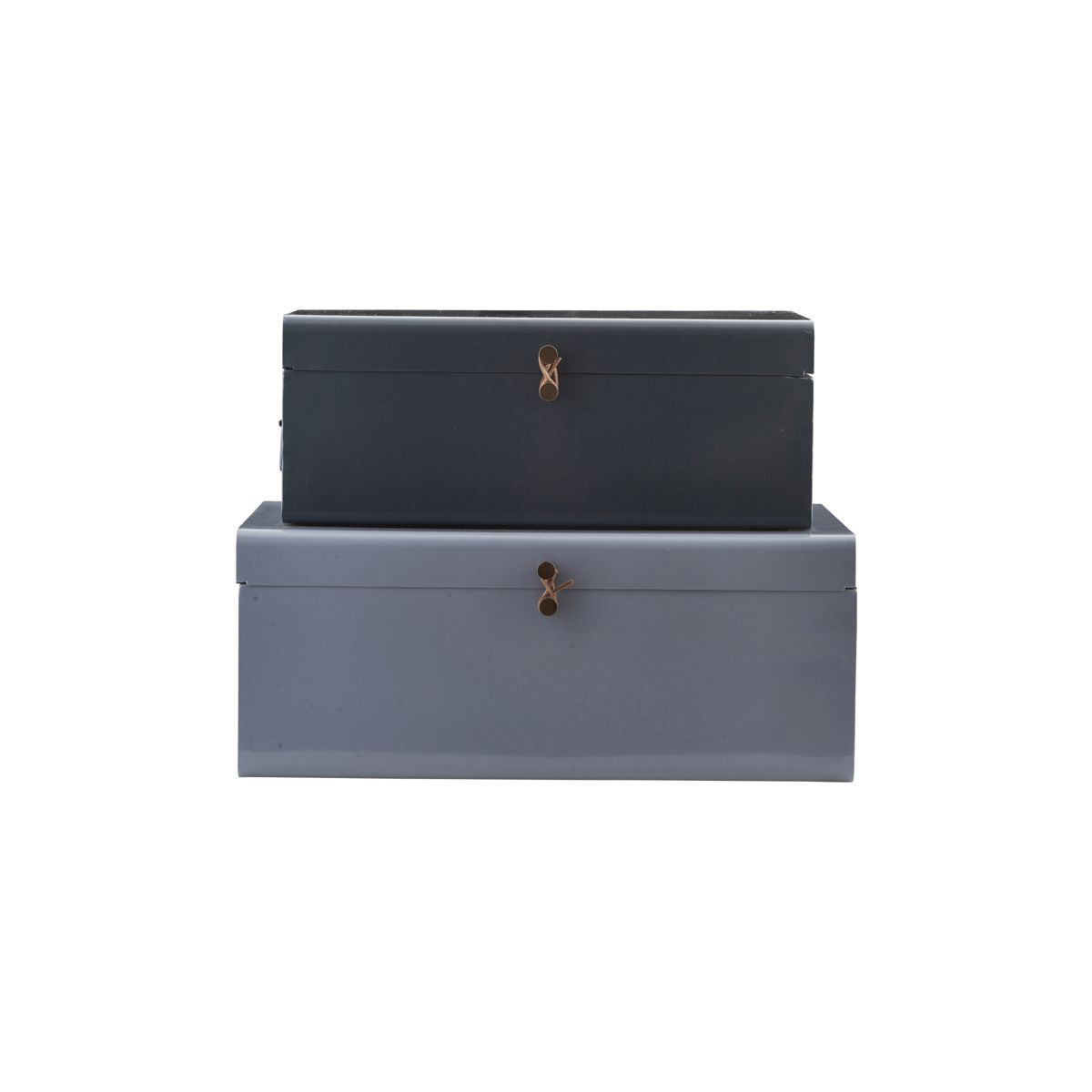 Metal förvaringslådor 2-pack - Blå/grön