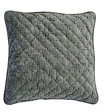 Velvet Quilted Kuddfodral 50x50 - Agath green
