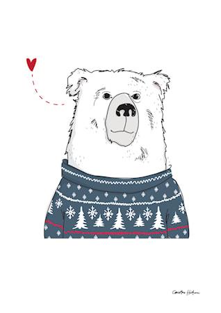 Bild av Christina Heitmann Illustration & Design Winter Bear Poster