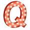 Cirkuslampan liten - Q - Röd