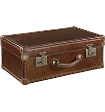 Suitcase vintage leather förvaring