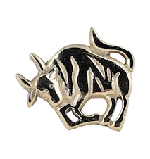 Stjärntecken Oxen, mässing, servettring