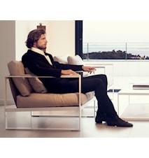 Monaco Lounge Soffa - 3-sits, vit ram