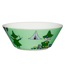 Mumin skål 15 cm Snusmumriken grön