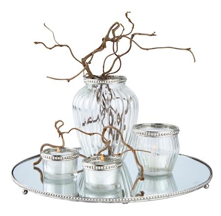 Bild av KJ Collection Set med Ljuslykta, Vas och Fat Silver