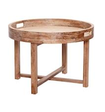 Foldable round bord