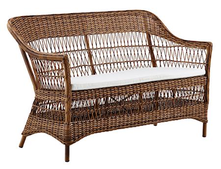 Sika Design Charlot 2-sits soffa - Chestnut, inkl vit dyna