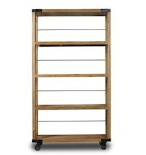 Book rack, raw wood hylla