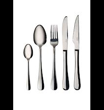 Aterinsetti 30 osaa, sileät veitset, haarukat, lusikat, kahvilusikat ja grilliveitset