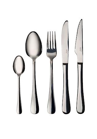 Bestickset 30 delar slät kniv gaffel sked kaffesked grillkniv