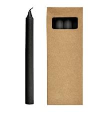 Steariinikynttilä 8st 24 cm - Musta