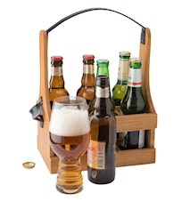 Flaskback 6 flaskor smideshandtag samt öppnare