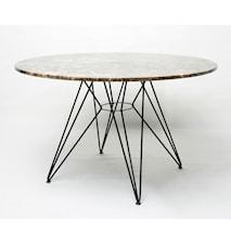 Mesa bord Ø120 – Brun marmor