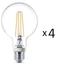 LED Filam Std E27 60W Dim 4st