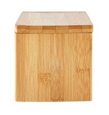 Saltkar med lock Bambu 10x13x10 cm