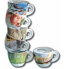 Lettera Il mondo Espressokopper 6 pk