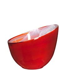 Candy skål röd