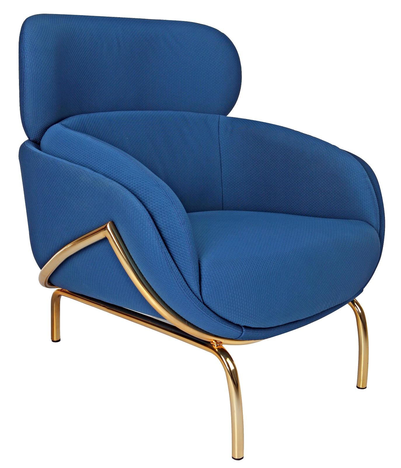 Royal blue loungestol