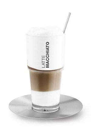 Latte Macchiatoglas med Sked & Fat