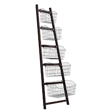 Rack with 5 black baskets