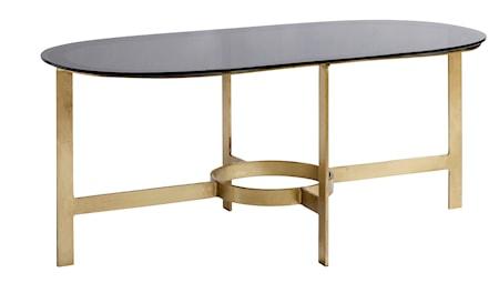 Ovalt soffbord - Svart/Mässing