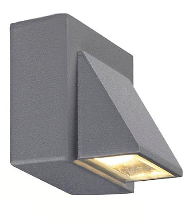 Carina Vägglampa 1 Ljus Grå