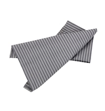 Handduk randig grå/blå