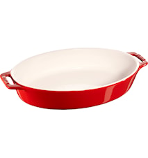 Oval form 29 cm rød 2,3 L