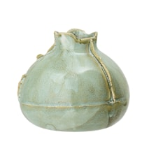 Vase Steintøy Grøn H9 cm