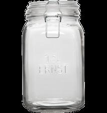 Glasburk med lock, 1,5 L ERNST