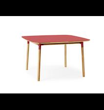 Form Bord Röd/Ek 120x120 cm