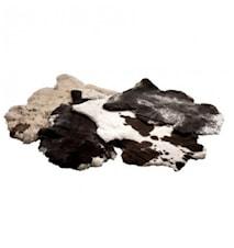 Wooly LW Langhåret kammet skind 60x100 cm - Naturligt plettet