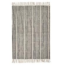 Teppe Stipes striper 75x150 cm - Svart