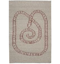 Gripsholm matta – Grå/röd
