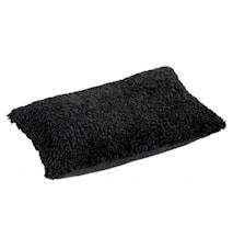 Ace Medium Kudde fårskinn/ulltyg 40x60 - Black/Black