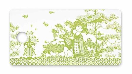 Smörgåsbricka, Rosegarden, grön, 20x40 cm