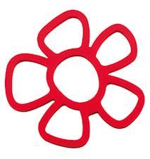 Grytunderlägg Silikon Röd 16,5x16,5 cm