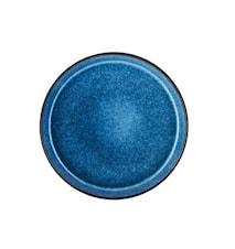 Tallerken Ø27cm sort/mblå Bitz