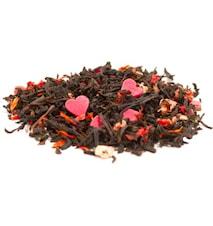 Svart Te Kärlek med röda hjärtan 300 gram