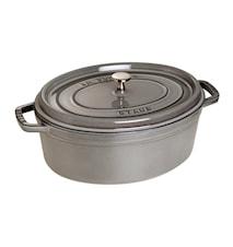 Oval gryta 31 cm grå 5,5 L