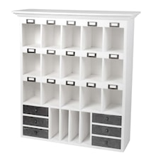 Wallhang shelf 19 rooms and 6 drawers