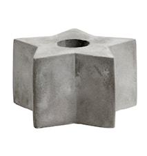 Ljusstake Cement Star Medium