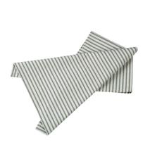 Handduk sjögrön/natur randig L